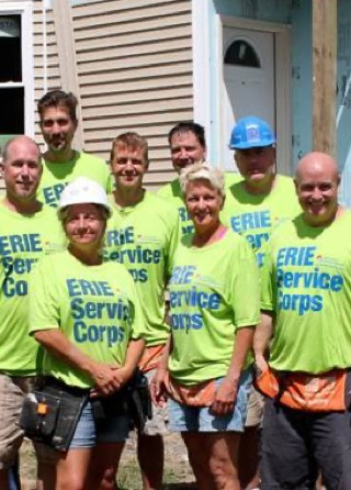 Group of volunteers for the Erie Service Corps